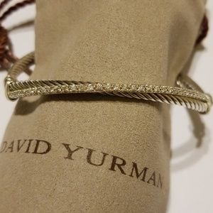 David Yurman Sterling Silver Crossover with Dia